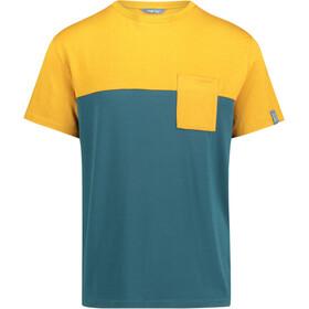 Meru Trikala Miehet Lyhythihainen paita , keltainen/petrooli